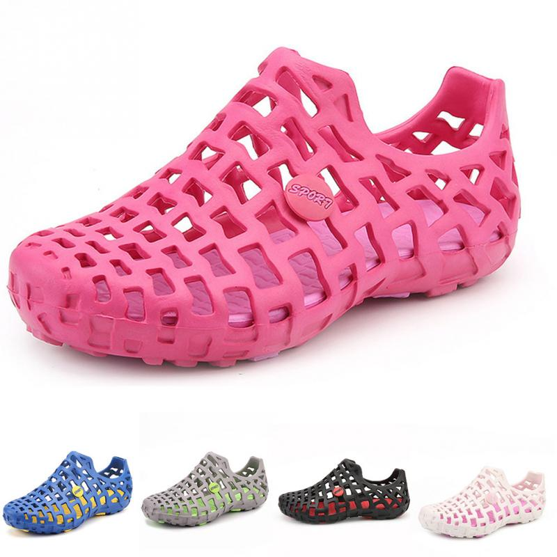 Men Women Breathable Slippers Hollow-out Beach Sandals Garden Hole Shoes Call