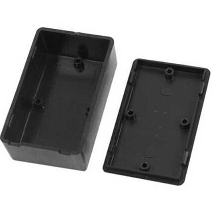 1 piezas de caja de instrumentos de bricolaje negro caja de proyecto electrónico de plástico suministros eléctricos 100x60x25mm