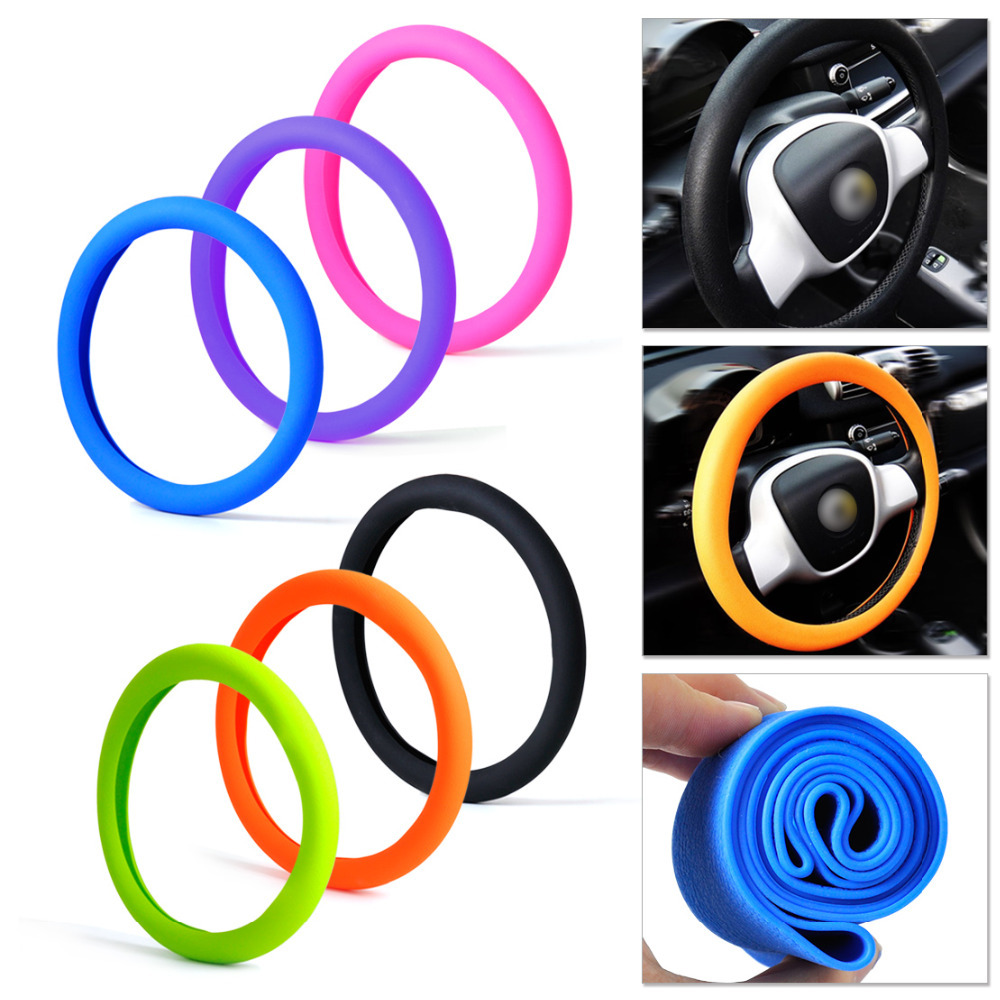 Soft Silicone Steering Wheel Cover Shell Skidproof Odorless Eco Friendly for VW Audi Nissan Peugeot Mazda Toyota Lexus Honda Kia