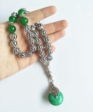 Tesbih Store luxury 10mm silver round hollow alloy beads tasbih turkish worry beads
