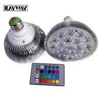 RAYWAY Dim LEDspot Işık Yüksek Güç 9 W 12 W 18 W Led spot lamba Par30 Par38 RGB tbulb Spot + IR Uzaktan kontrol
