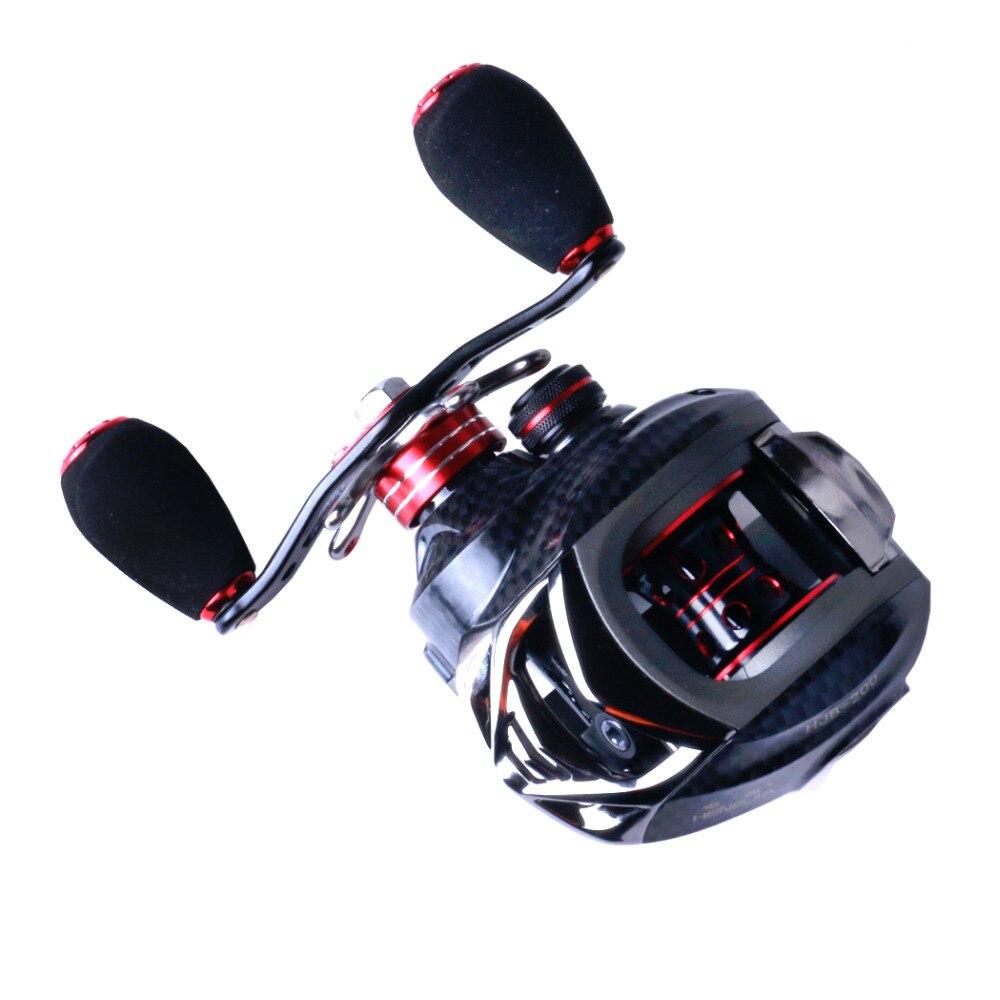 HENGJIA 11+1BB Right or Left Baitcasting Reel 6.3:1 Bait Casting Fishing Reel Magnetic Centrifugal Dual Brake