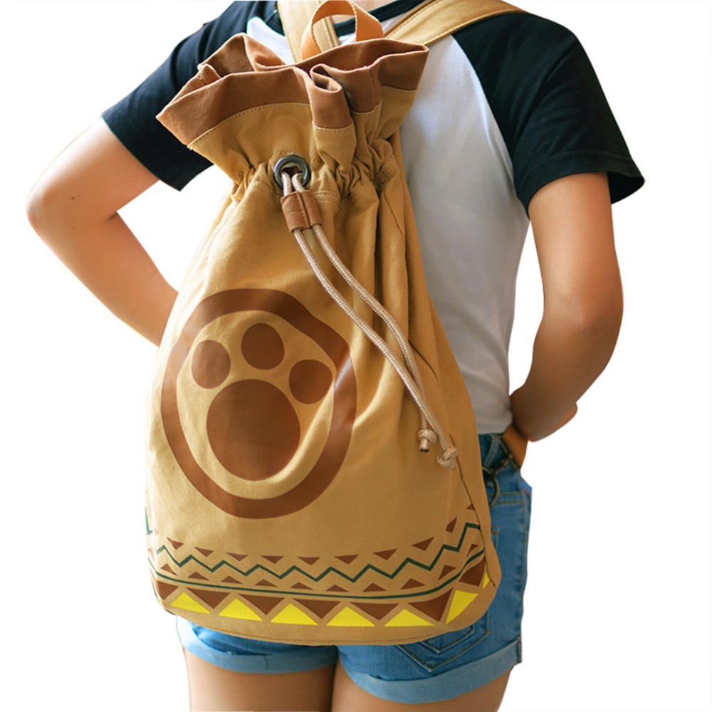 Game Monster Hunter Bag Airou Airu Cat Teenage Backpack Cosplay Gift