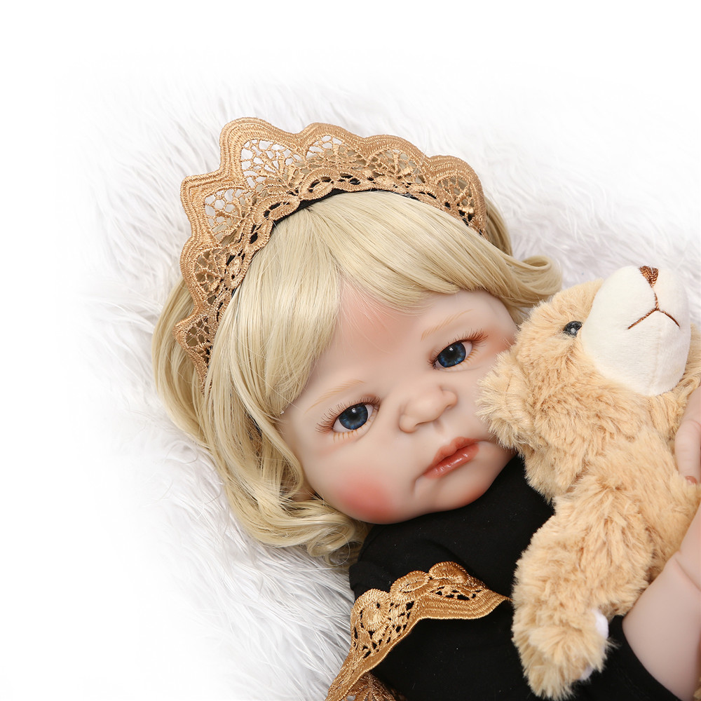 NPK 22 reborn Baby Doll full body Soft Silicone dolls reborn blond curly hair Lifelike real born dolls bebe gift reborn bonecasNPK 22 reborn Baby Doll full body Soft Silicone dolls reborn blond curly hair Lifelike real born dolls bebe gift reborn bonecas