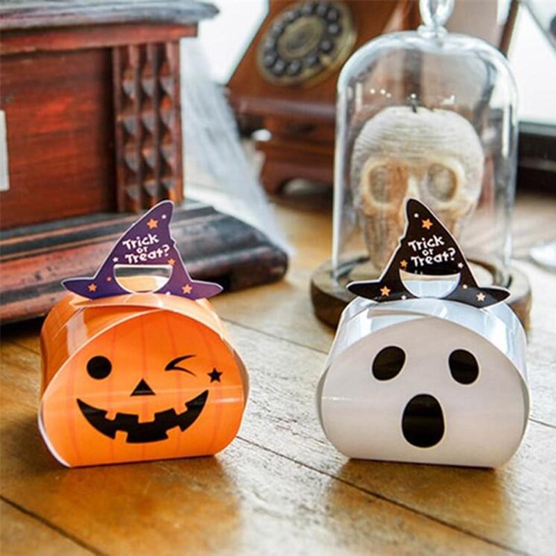 Goedhartig 20 Stks Wit Oranje Mini Halloween Bonbondoos
