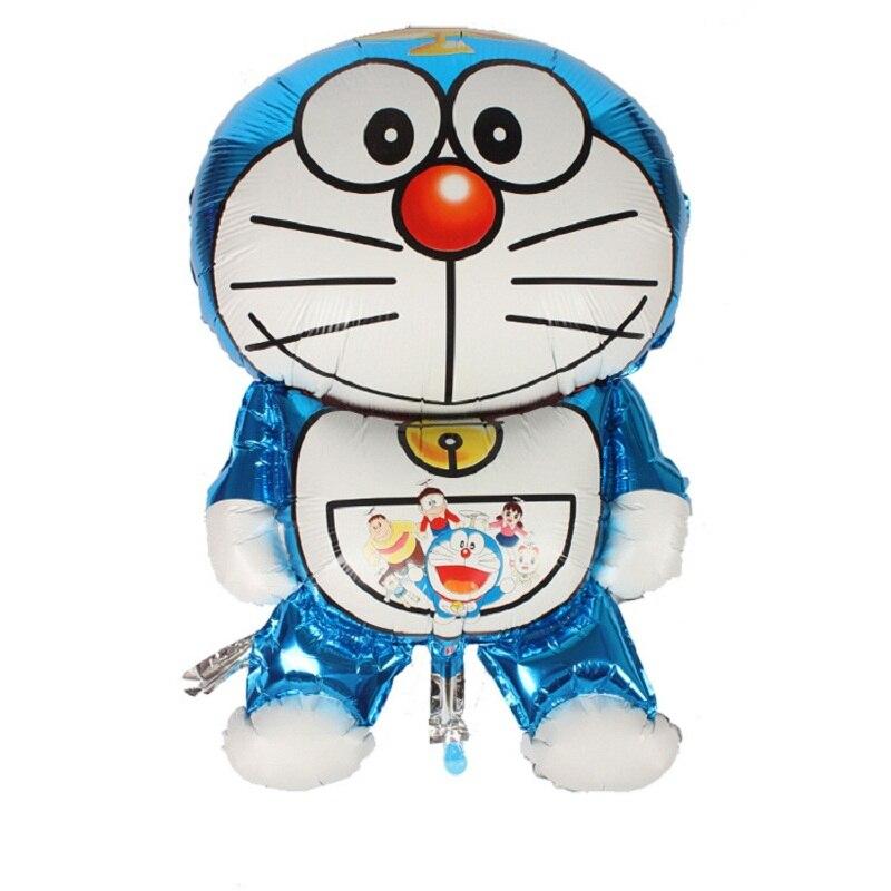 3pcs/lot Doraemon Balloon 105*66CM Kids Birthday Party Foil Balloons Best Quality Kids Love Toys Decoration Doraemon Balloon
