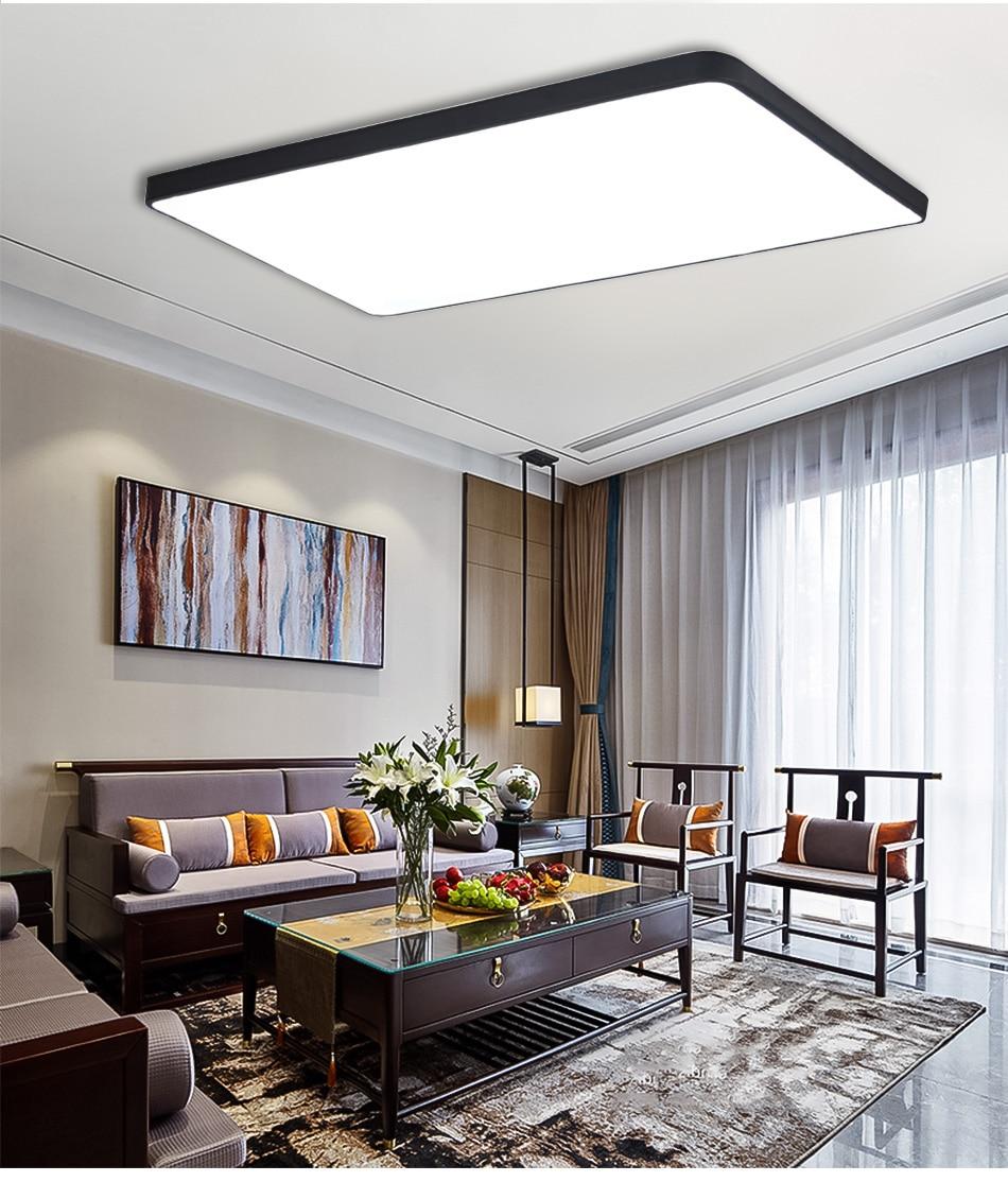 HTB16hakaJzvK1RkSnfoq6zMwVXaz LED Ceiling Light Modern Lamp Living Room Lighting Fixture Bedroom Kitchen Surface Mount Flush Panel Remote Control