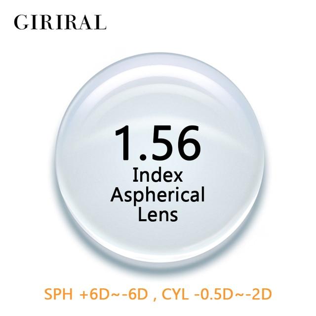 ff1f24cd7c 1.56 Index CR-39 Single Version lenses eye Myopia optical prescription Clear  Aspheric eyeglass lenses