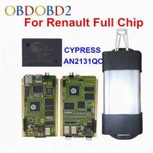 Последняя Версия V165 PCB Золота Для Renault Может Закрепить OBD2 Диагностический Инструмент многоязычная Для Renault Полный Чип Авто OBD2 Сканер