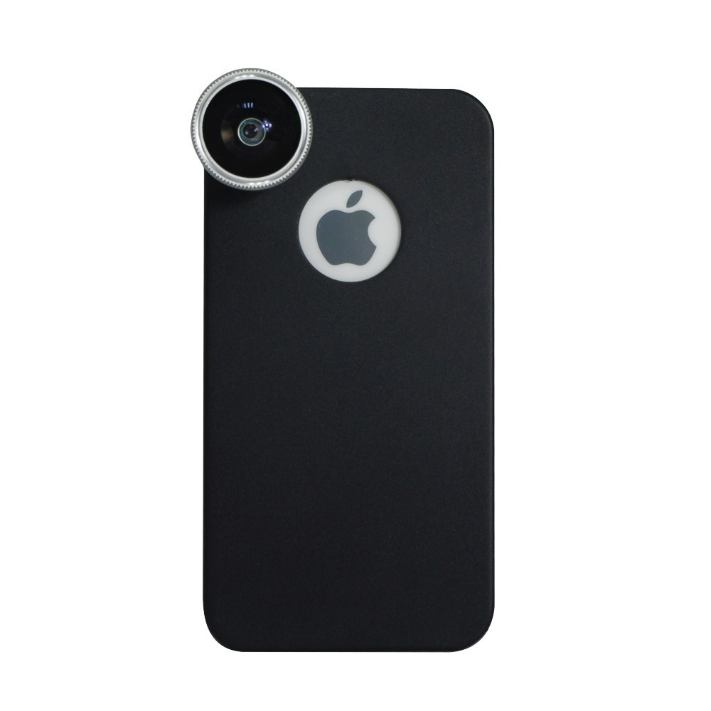 For iphone 4 4s lens kit and wallet , wide angle fisheye 2x telephone lens 8x zoom lens tripod and case 2cl-24 (13)