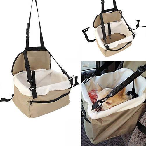 Home Soft Pet Dog Puppy Cat Kitty Car Seat Booster Seat Carrier Pet Outdoor Car Leash Bag