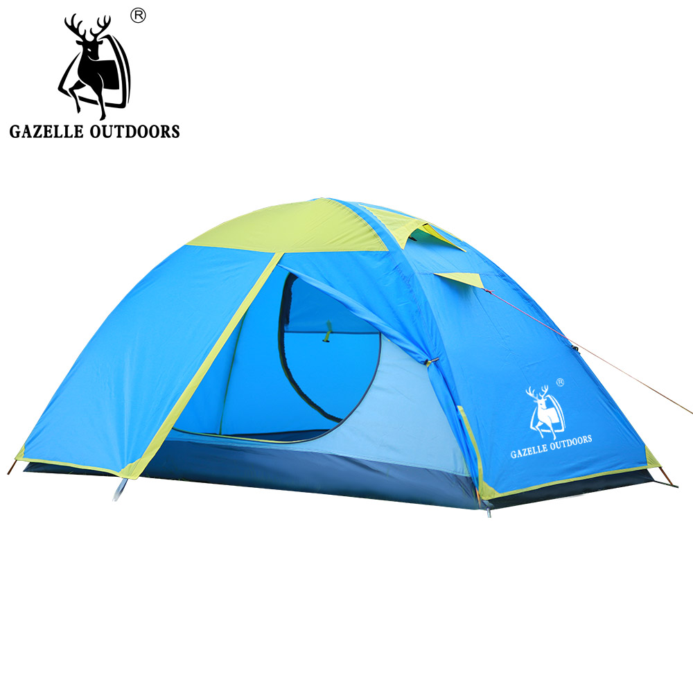 New Single Person Double Layer Camping Tent , Waterproof Camp Outdoor Tent 210x100x110cm for Single Person Double Layer