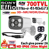 FreeShipping 1 3Sony CCD Effio 700tvL Sensor HD Color Image Cctv Camera Waterproof IP66 Infrared Array