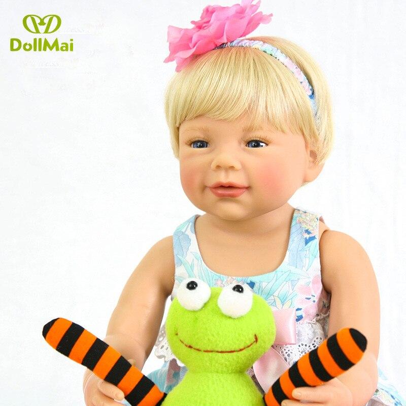 Bebes reborn 56cm silicone vinyle reborn bébé fille poupées jouets cadeau lol reborn bambin bonecas