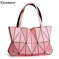 2018 New Matt Color bag Diamond Women Geometry Totes Sequins Mirror Saser Plain Folding Bags Free Shipping Luminous Bag