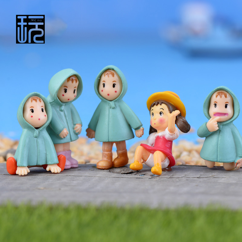 New Version Doll Miyazaki Anime My Neighbor Totoro - May Fairy Figurines Mini Garden Miniature Mini Decoration Toy Figures