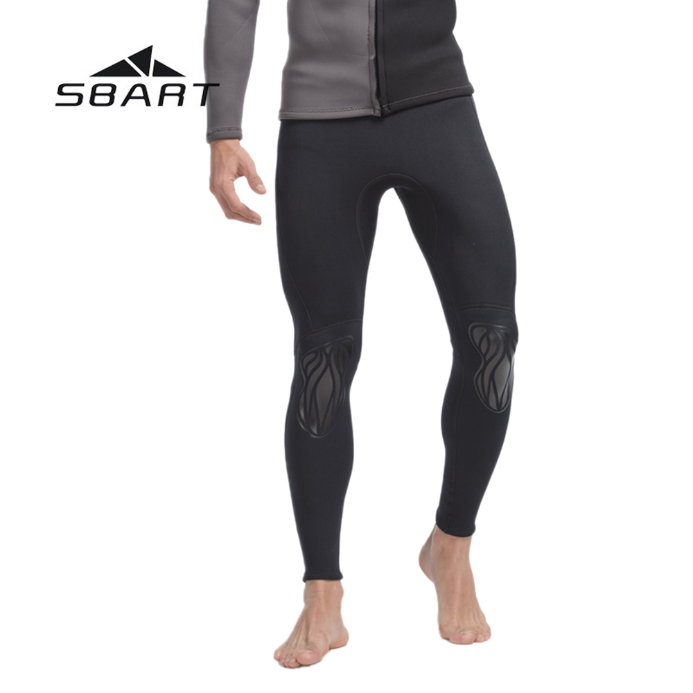 ФОТО SBART 3mm Neoprene Men Scuba Diving Tight Pants Swimming Swimwear Kite Surfing Tights Leggings Wetsuit Windsurfing Rashguard
