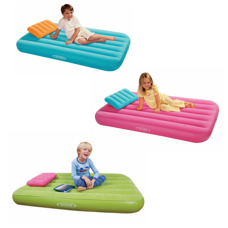 Children Portable Inflatable Bed Air Mattress For Home Garden Camping Beach Use With Pillow