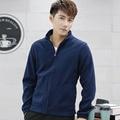 Men sweatshirt fleece 2017 new autumn male stand collar casual tops teenage boy outerwear zipper black blue red