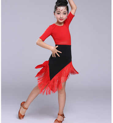 e231e1decc69 ... Plus Size Sexy Dress Robe Danse Latine Femme Junior Latin Dresses Dance  Costumes Fr Kids Girl ...