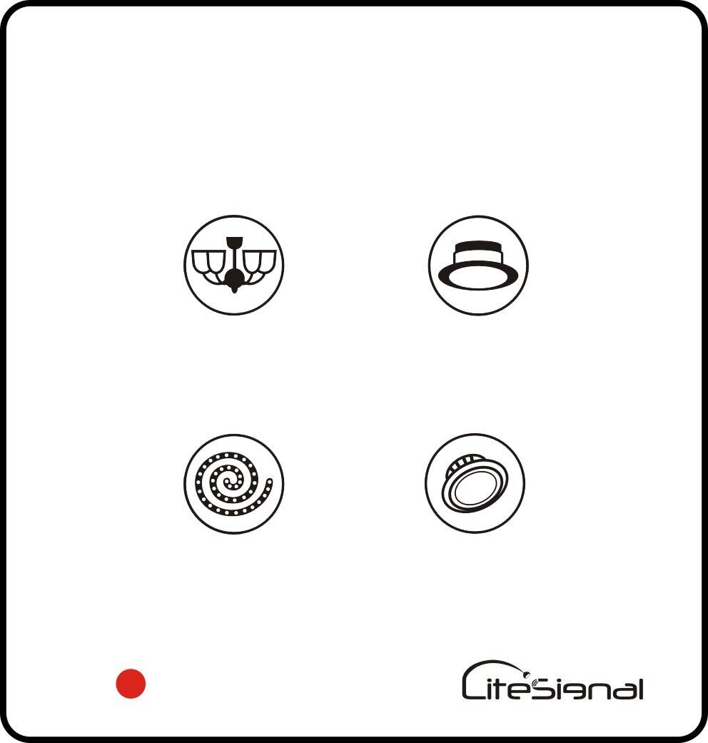 Умный домашний переключатель с сенсорной панелью, настенный выключатель, 4 комплекта, переключатель с пультом дистанционного управления, управление вне площадки-HOS-4 - Цвет: Белый