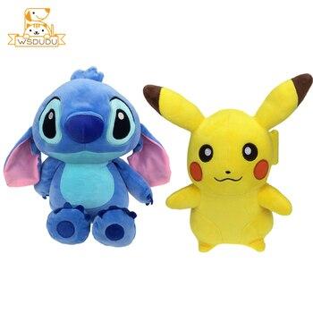 Kawaii Lilo Y Stitch Pikachu Poke Ball Psyduck Peluche Suave Juguetes Animales Para Niños Muñecas Dibujos Animados Regalo Monstruo De Bolsillo