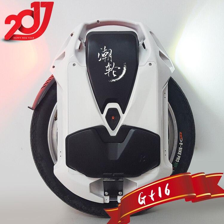 2017 Rockwheel GT16 Elektrische einrad 40 + km/h 858WH 84 V 1500 Watt motor, 16 zoll ein rad roller elektrische fahrrad auf lager