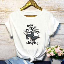 2QIMU Nive Give Up Women T-Shirt Funny Print Casual O-Neck Fashion T-shirt for Summer Tops Female