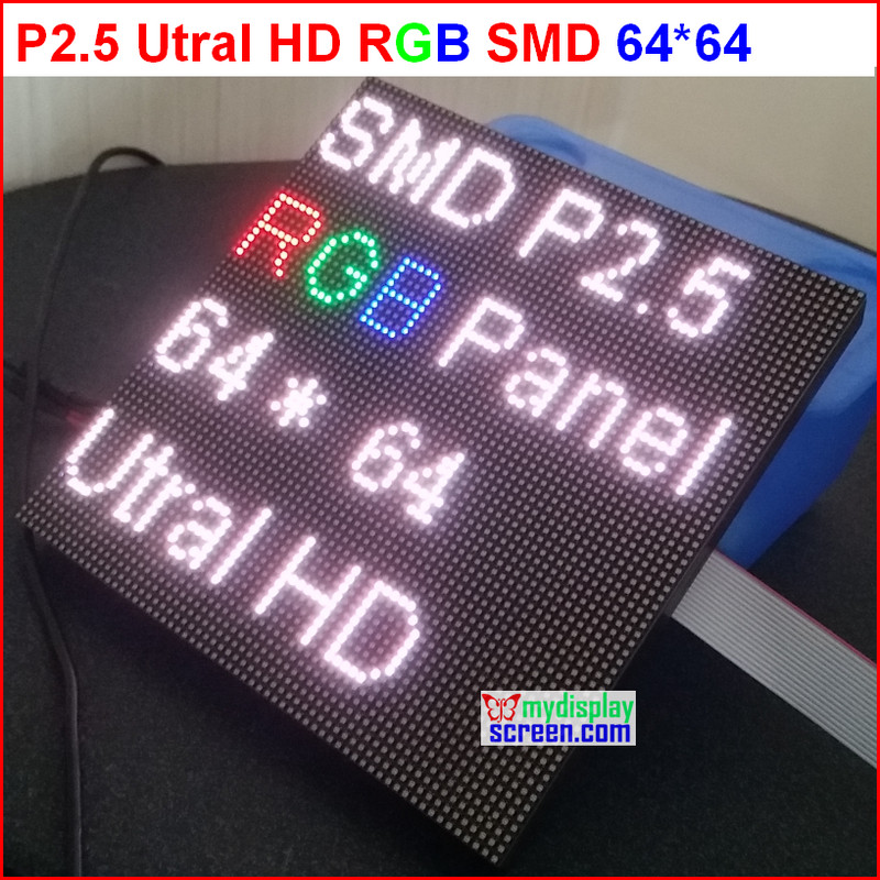 DIY P2.5 Led Display Module, 2.5mm Pixel Indoor Rgb Full Color Led Screen,1/32 Scan 160*160mm P2.5 Full Color Led Display Panel
