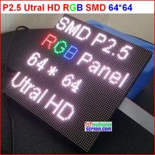 DIY p2.5 Módulo De Pantalla led, 2,5mm pixel pantalla led a todo color rgb interior, 1/32 scan 160*160mm p2.5 panel de visualización led a todo color