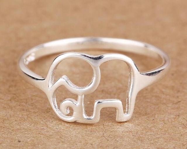 yiustar New Fashion Vintage Ring Animal ring Elephant Ring Set Size 7 SYXL029