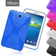X Línea Suave Cubierta Del Gel de TPU Funda de Silicona Semi Transparente Piel para Samsung Galaxy Tab 3 7.0 T210 T211 P3200 P3210 Tab3 7″