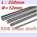 Novo 12mm linear eixo 350mm de comprimento linear rail 12x350mm CNC linear shaft hardened rod linear peças cnc trilho de guia