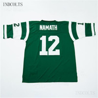 Throwback  12 Joe Namath Embroidered Retro star Football Jersey free  shipping INDCOLTS 6b0aa259a