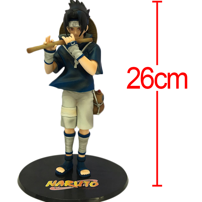 C&F Animation Naruto Anime Action Figure Toys Uchiha Sasuke Whistling 26 CM PVC Model Collectible Figures Toys For Gifts shfiguarts naruto uchiha itachi moloing and movable pvc action figure collectible model toy 16cm