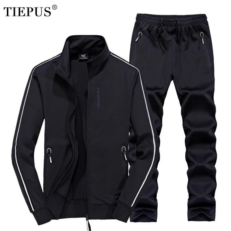 Plus Size 6XL,7XL,8XL Sportswear Men Autumn Winter Set Track And Field Sportswear  Hoodies+ Pants Man Casual Sporting Suits