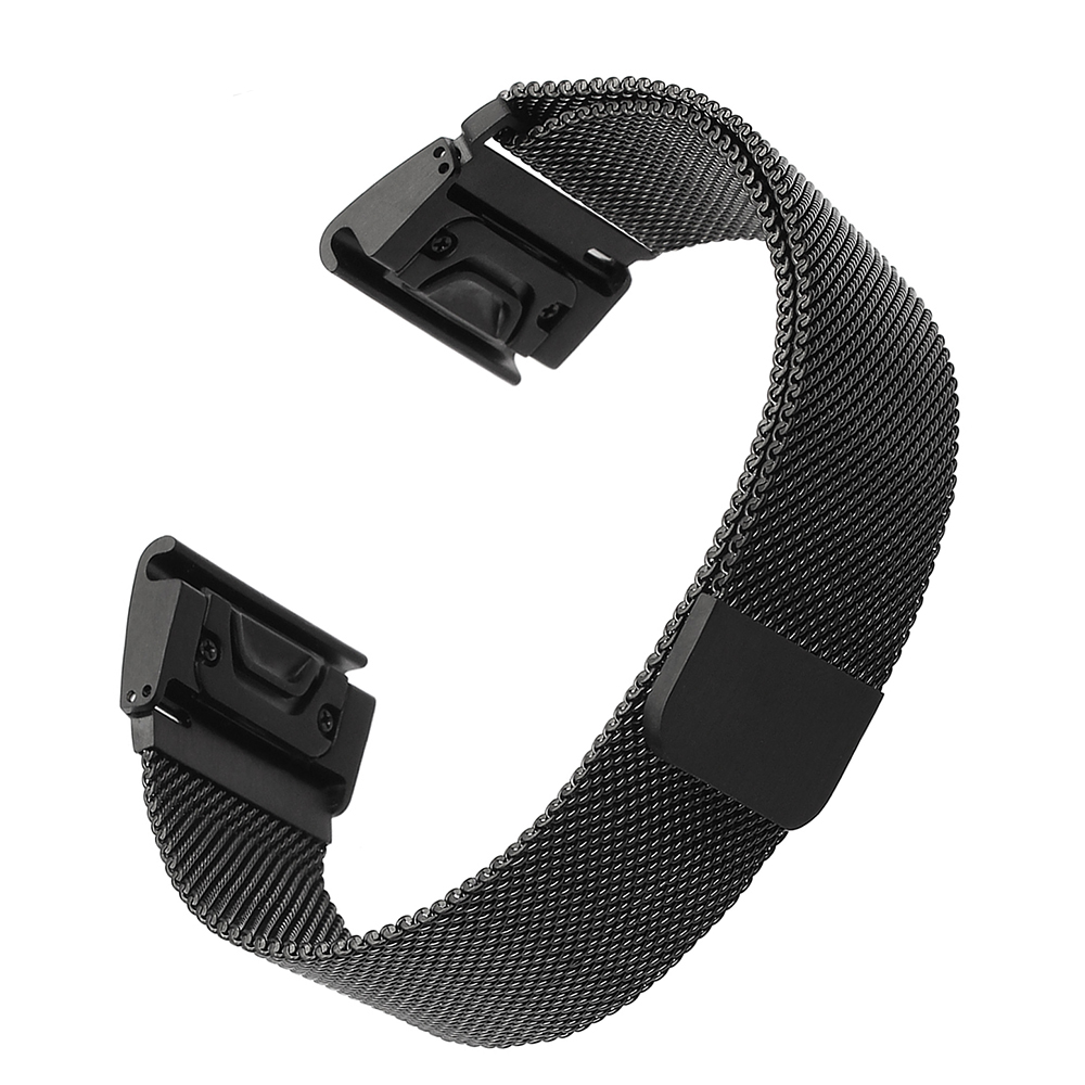 Quick Release Easy Fit Milanese Loop Band for Garmin Fenix 3 / HR / 5X /5S Magnet Strap 20/22/26 mm Size Wrist Belt Bracelet 22mm woven nylon strap replacement quick release easy fit band for garmin fenix 5 forerunner935 approach s60
