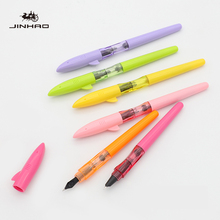 лучшая цена Jinhao Shark Fountain Pens 0.38mm novel Calligraphy Ink Pen calligraphy pen  Student Stationery gift fountain pen Plume Customiz
