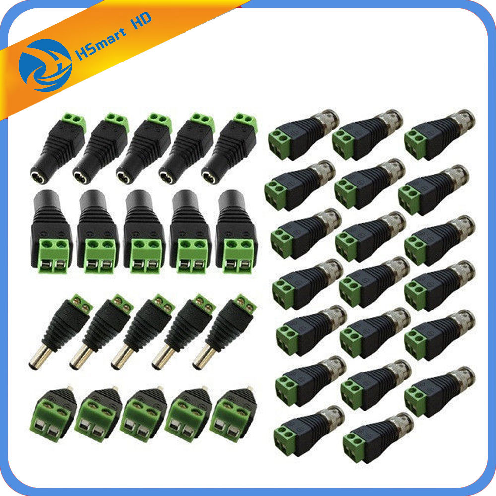 CAT5 TO BNC Passive Video and Power Balun Transceiver (10 Pairs) For CCD Mini Camera CCTV Accessories bnc м клемма каркам
