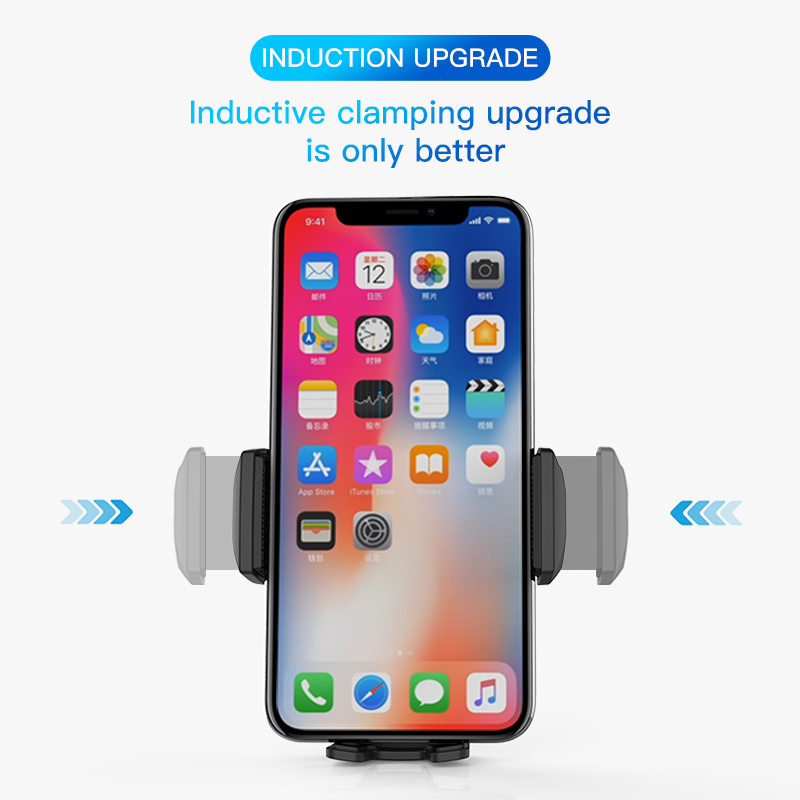 Automatic Induction Qi Wireless Car Charger for iPhoneX XS XR SamsungS9 Quick Wireless Charging Charger Car  Mobile Phone Holder
