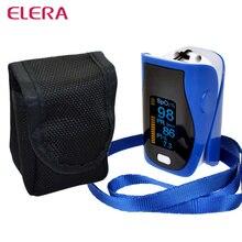 ELERA Nuevo Portable Dedo Oxímetro de Pulso SPO2 PR oximetro de dedo digital CON CAJA PI Pulsioximetro Cuidado de La Salud