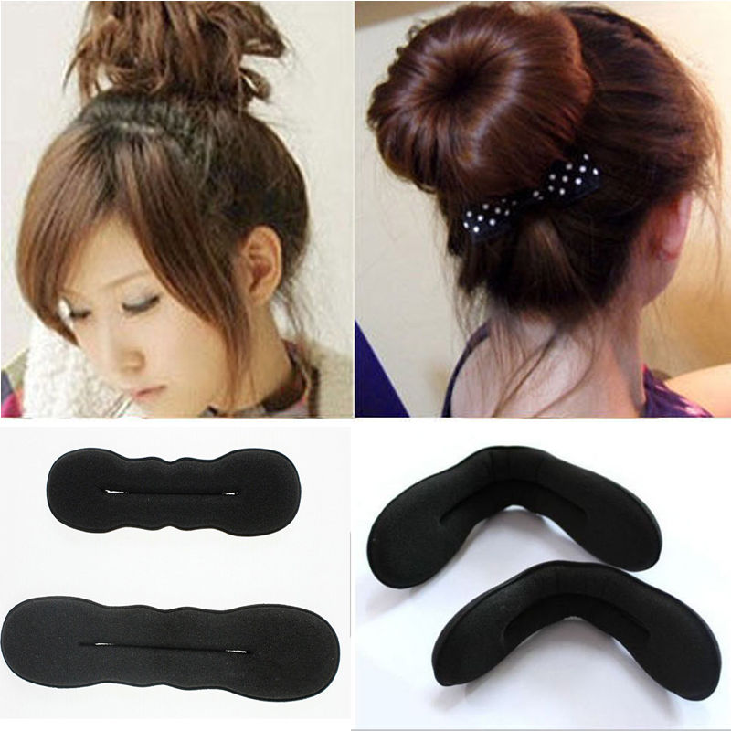 1pcs Hair Styling Magic Sponge Clip Foam Bun Curler Hairstyle Twist Maker Tool Accessories #3