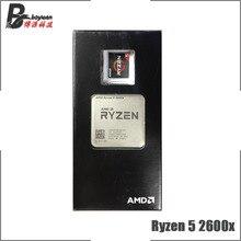 AMD Ryzen 5 2600X R5 2600 × 3.6 Ghz の 6 コア Twelve スレッド CPU プロセッサ L2 = 3M L3 = 16 メートル 95 ワット YD260XBCM6IAF ソケット AM4
