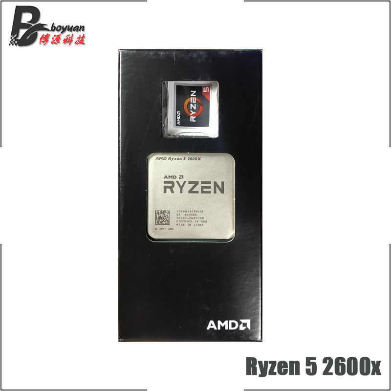 AMD Ryzen 5 2600X R5 2600X3.6 GHz a Sei Core Dodici Thread di CPU Processore L2 = 3M L3 = 16M 95W YD260XBCM6IAF Presa AM4-in CPU da Computer e ufficio su  Gruppo 1