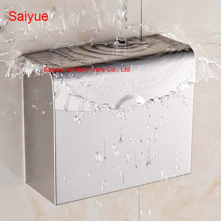 New Charming Toilet Paper Holder Box SUS 304 Stainless Steel WC Cover Roll Tissue Rack Shelf  Bathroom Banheiro Accessories new pure luxury white painting toilet lavatory wc paper holder with diamond roll tissue porte papier bathroom accessories