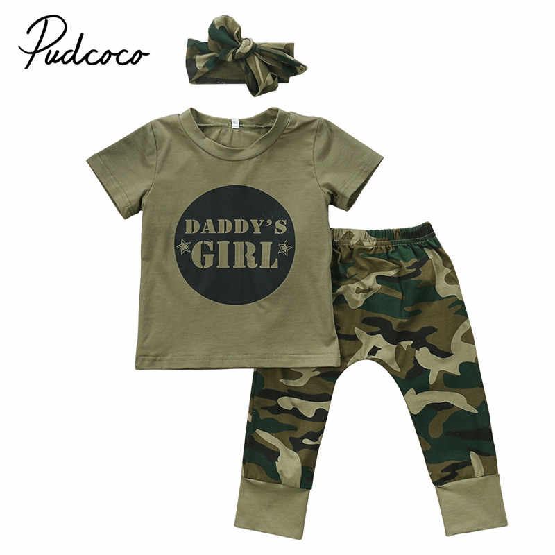 898f4a6342816 Detail Feedback Questions about Newborn Toddler Baby Boy Girl Camo Clothes  Sets Daddy's Boy Girls Short Sleeve T shirt Tops + Cotton Pants Outfits Set  ...