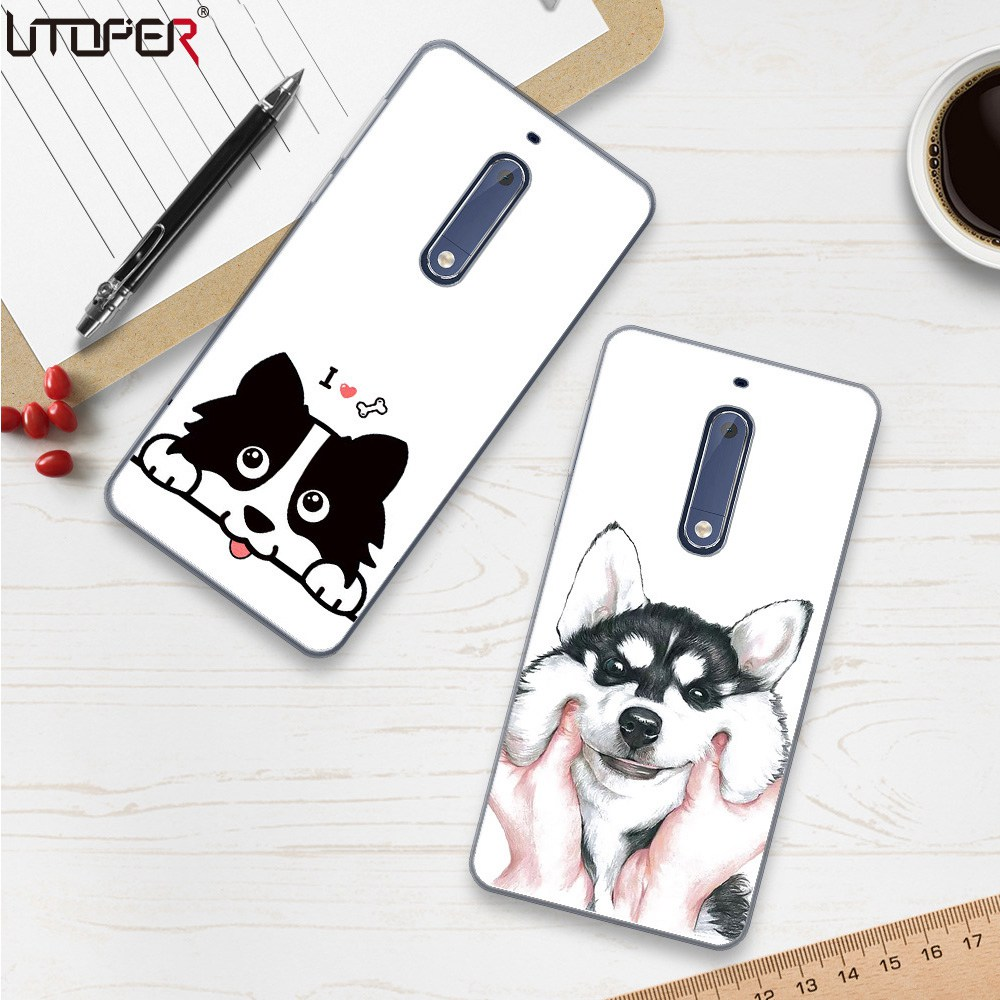 UTOPER Cute Dog Case For Nokia 6 Case Cartoon Hat BullDog Cover For Nokia 5 2 Case Silicone For Nokia 5 3 Cover For Nokia 8 Capa