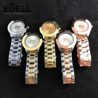 EDELL Alloy Fashion Business Exquisite Men and Women Couple Quartz Watch Rose Gold High Quality Original Jewelry Fashion Gift