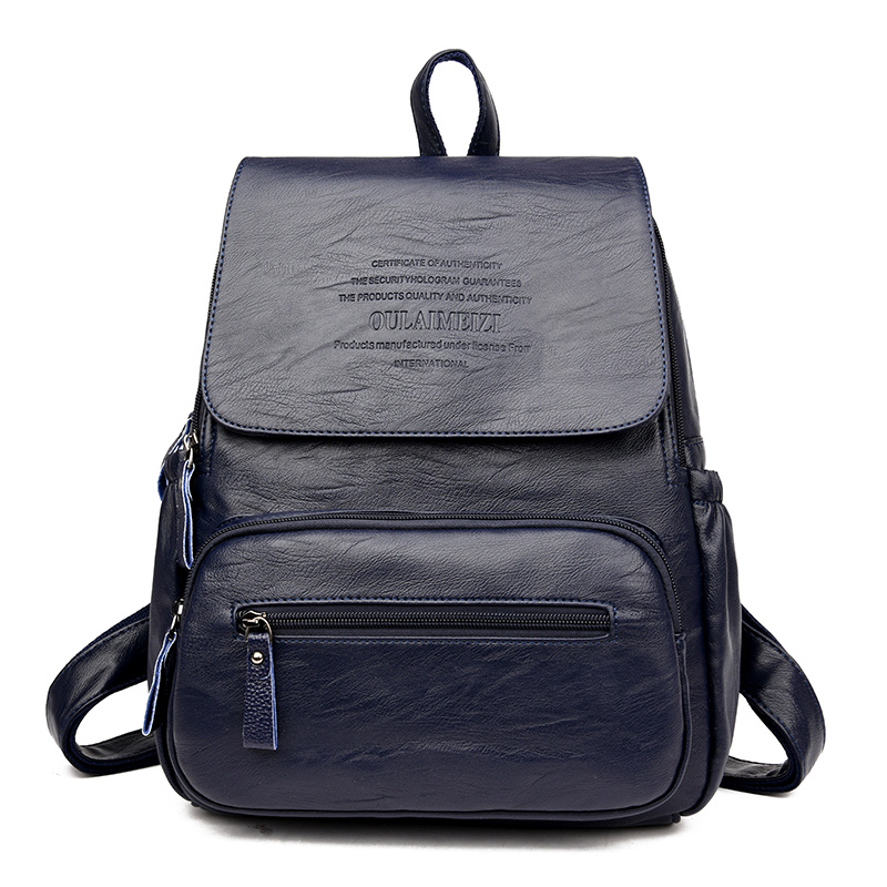 HTB16heIrb1YBuNjSszhq6AUsFXaD 2019 Vintage Leather Backpacks Female Travel Shoulder Bag Mochilas Women Backpack Large Capacity Rucksacks For Girls Dayback New