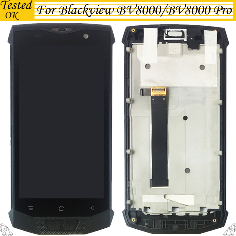 100% Tested Working For Blackview BV8000 BV8000 Pro LCD Display +Touch Screen With Frame Digitizer Assembly100% Tested Working For Blackview BV8000 BV8000 Pro LCD Display +Touch Screen With Frame Digitizer Assembly